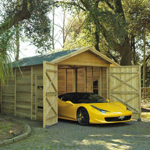 Garage in Legno Classic